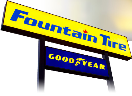 Fountain-tire-sign